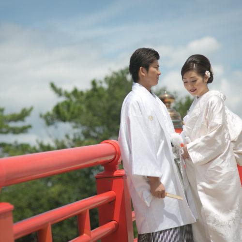 白無垢・洋髪で結婚式